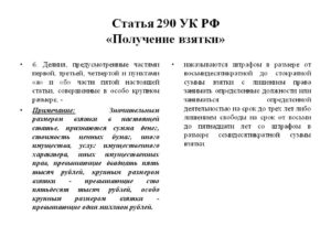 Ст 290 ч 6 ук рф